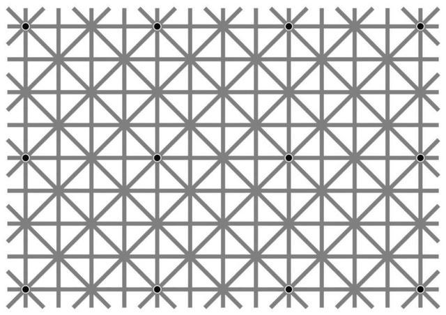 网格上的黑点:它们怎么消失了?