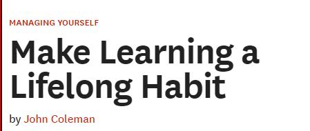 【哈佛商评】让学习成为一生的习惯